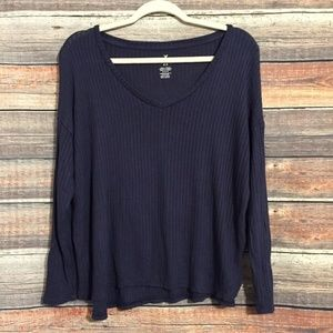 American eagle soft & sexy ribbed v neck top